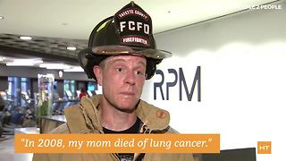 Firefighters climb to top of skyscraper to raise lung cancer awareness | Hot Topics - Video