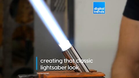 The force is strong with this real-life lightsaber!