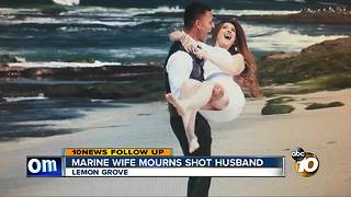 Marine wife looking for answers after shooting
