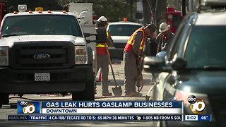 Gas leak hurts San Diego Gaslamp businesses - Video