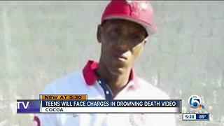 Teens will face charges in drowning death video - Video