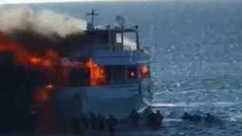 Dramatic Video Shows Passengers Jumping Off Burning Casino Boat