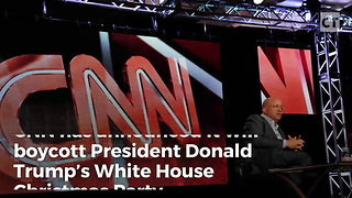 CNN Throws Tantrum, Boycotting WH Christmas Party - Video