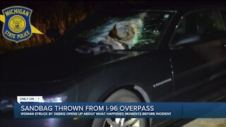 Man arrested for allegedly throwing sandbags off freeway overpass in Lyon Township