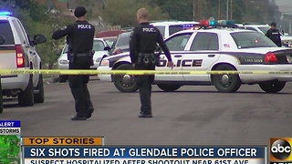 Glendale PD officers escape shootout with suspect Friday - Video