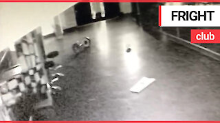 Spooky CCTV captures what appears to be a poltergeist in a deserted nightclub