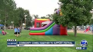 Community comes together to support festival in Ault - Video