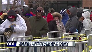 President Trump campaigns tonight in Toledo