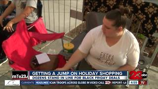 Shoppers getting a jump on Black Friday - Video