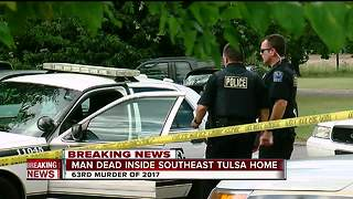 Man dead inside Tulsa home - Video