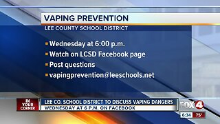 Lee County School District to discuss vaping dangers in live town hall meeting