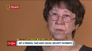 Get a pension, take away social security payments