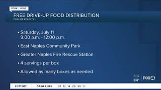 Free drive up food distribution Collier County
