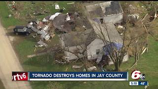 Severe storms, tornadoes leave damage throughout central Indiana - Video