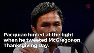 Manny Pacquiao Reportedly Seeking Fight With Conor McGregor - Video