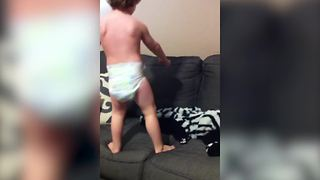Adorable Tot Boy Chases His Shadow - Video