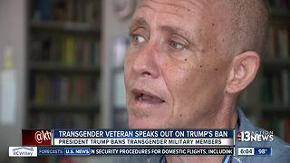 Transgender veteran speaks out on Trump's ban - Video