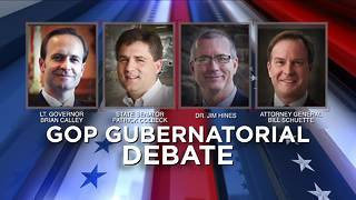 GOP Gubernational debate happening Thursday night - Video