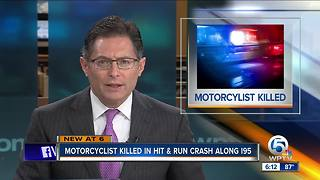 Motorcyclist killed on I-95 hit-and-run crash on Saturday night