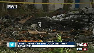 Officials watching fire danger during cold weather - Video