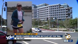 Driver charged for hitting bicyclist set for trial