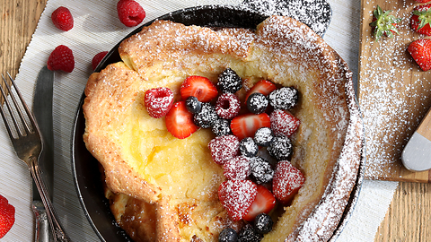 How to make fluffy Dutch baby pancakes