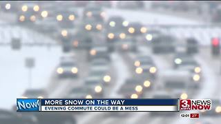 Evening drive could also be a mess with more snow on the way - Video