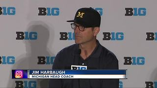 Harbaugh pressed on records against rivals - Video