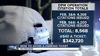 Milwaukee issues more than 8,000 parking tickets during