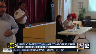 Baltimore community host crime fighting Town Hall - Video