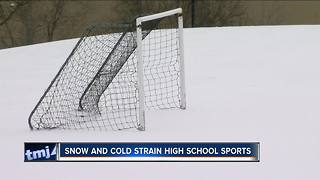 High Schools sports affected by spring snow - Video
