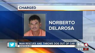 Man Throws Dog Out of Car - Video