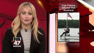 No Michigan fishing license? No problem...for this weekend - Video
