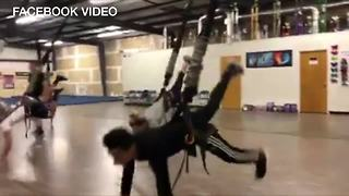 Gym in Kern County offers bungee jump workouts that burns fat fast! - Video