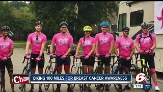 Bikers travel 100 miles for breast cancer awareness - Video