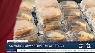 Salvation Army serves meals to-go