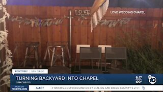 Local woman turns backyard into wedding chapel