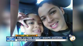 Fire victims' family wants answers - Video