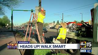 Phoenix promoting pedestrian, crosswalk safety