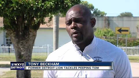 Florida dad, former NFL player, tackles man accused of peeping into daughter's window