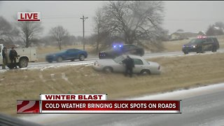 Roads slick in Green Country