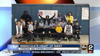 Good morning in an adorable shout out from Immaculate Heart of Mary - Video