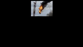 Helicopter Crashes into Utility Lines, Catches Fire in New York