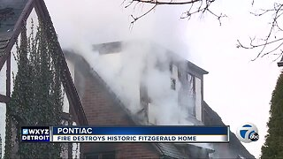Fire destroys historic Fitzgerald home in Pontiac