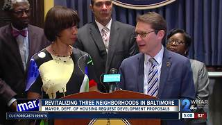 Officials seek proposals to revitalized 3 neighborhoods in Baltimore