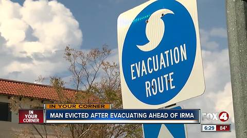 Marco island family evicted while evacuating from Irma