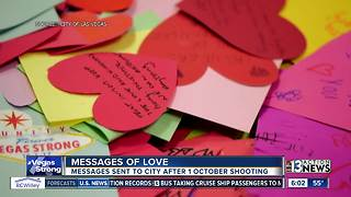 Las Vegas receives thousands of letters of love and support - Video