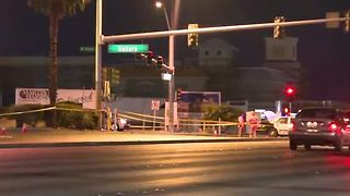 Las Vegas police seek white SUV in Wednesday hit-and-run crash - Video