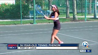 14-year-old tennis phenom Violeta Martinez