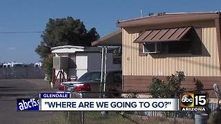 Residents living in Glendale trailer park being forced to move